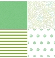 Curly doodle shapes set of four marching vector