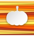 Halloween pumpkin striped background with place vector