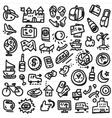 Travel doodles vector