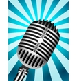Microphone back retro vector