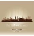 Newcastle england skyline city silhouette vector