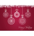 Christmas balls on colorful background vector