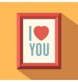 I love you poster vector