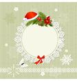 Ornamental christmas frame vector