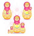 Mothers day matryoshka vector