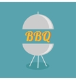Bbq grill party invitation card flat design icon vector