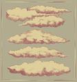 Vintage cloud background design vector