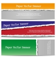 Three abstract torn paper banners vector