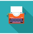 Retro vintage creativity symbol typewriter and vector