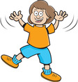 Cartoon jumping girl vector