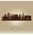 Nottingham england skyline city silhouette vector
