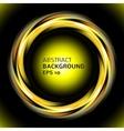 Abstract light yellow swirl circle on black vector