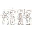 A plain sketch of asian people vector