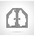 Attic window black line icon vector