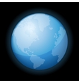 Globe icon of the world on black background vector