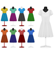 Classic women plain dress template vector