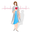 Female doctor of cardiology vector