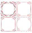 Set of different decorative frames vector