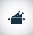 Chicken dish icon vector