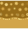 Christmas golden snowflakes background vector