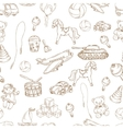 Toys seamless pattern vector