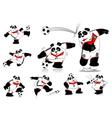 Panda soccer germany all action vector