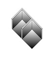 Isometric object- architectural logo vector
