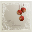 Christmas background with baubles vector