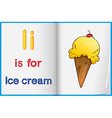 A picture of ice cream in a book vector