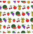 Seamless pattern of fruit background vector