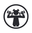 Girl gym icon vector
