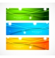 Set of banners with wavy lines vector