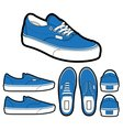 Classic era shoes vector