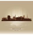 Sheffield england skyline city silhouette vector