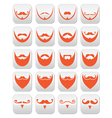 Ginger beard with moustache or mustache ico vector