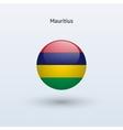 Mauritius round flag vector
