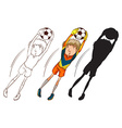 Soccer players in different colours vector