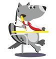 Cartoon wolf businessman 05 vector