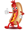 Cartoon hotdog vector