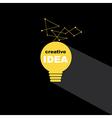 Idea bulb icon concept creative background vector