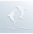Paper dolphins vector