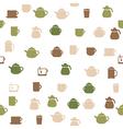 Tea seamless pattern vector