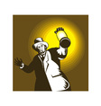 Man wearing top hat and holding lantern vector