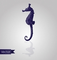 Abstract triangular seahorse vector