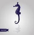 Abstract triangular seahorse vector