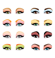 Woman eyes make up vector