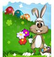 Easter rabbit vector