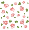 Wallpaper roses and leaves vector
