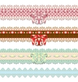 Lace ribbons vector