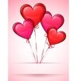Heart shaped balloons vector